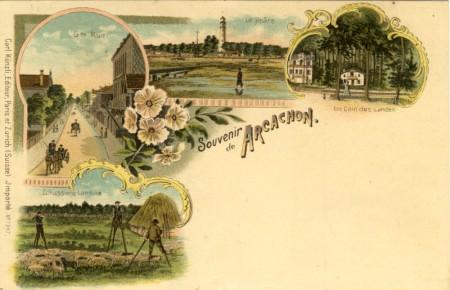Carte postale ancienne illustrée de gravures de Carl Kunzli et frères.
