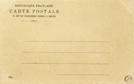 Verso d'une carte de P. L.